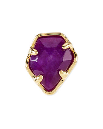 Purple Jade Facet Charm
