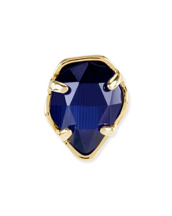 Navy Cat's Eye Facet Charm