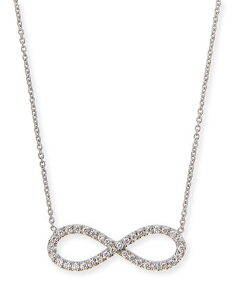 18k White Gold Diamond Infinity Necklace