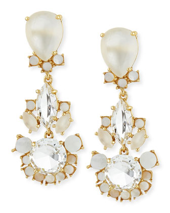 grand bouquet statement earrings, clear