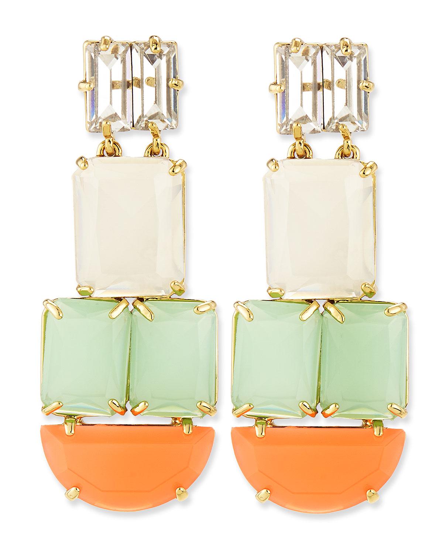 varadero tile statement earrings   kate spade new york   Multi colors