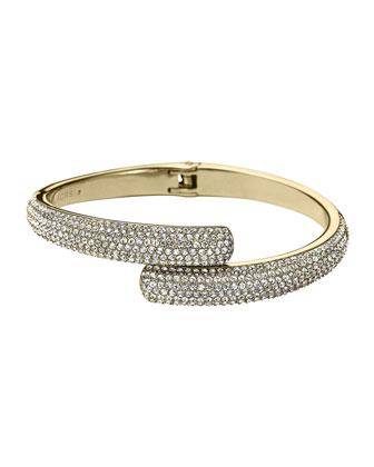 Pave Bypass Bracelet, Golden