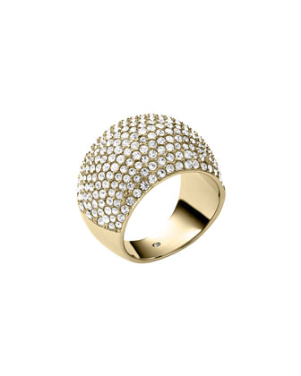 Pave Dome Ring, Golden