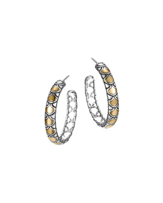 Naga Gold & Silver Medium Hoop Earrings