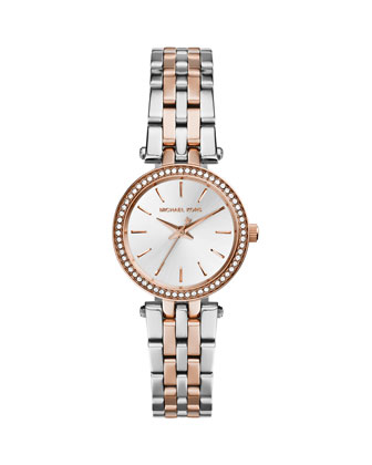 Mini Two-Tone Stainless Steel Darci Glitz Watch