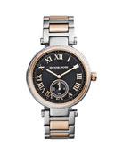 Mid-Size Two-Tone Skylar Two-Hand Glitz Watch