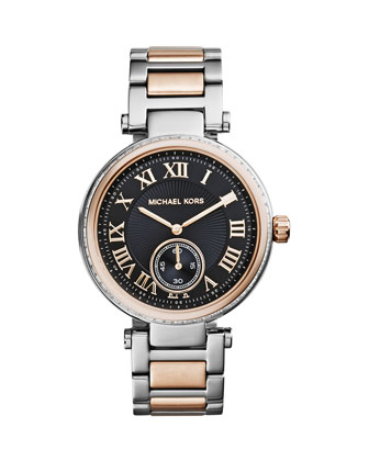 Mid-Size Two-Tone Skylar Two-Hand Glitz Watch
