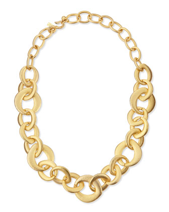 Golden Satin Link Chain Necklace