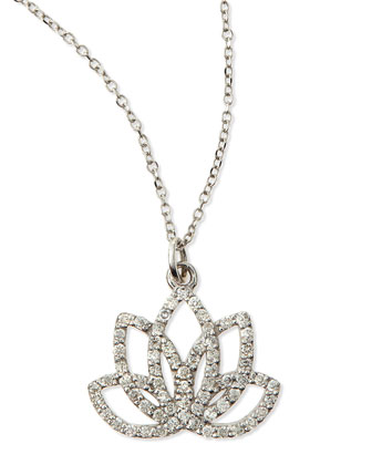 Diamond Lotus Flower Necklace