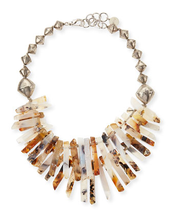 Montana Agate Point Necklace