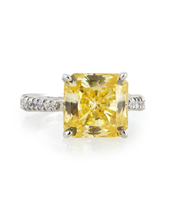 Canary Cubic Zirconia Radiant Ring