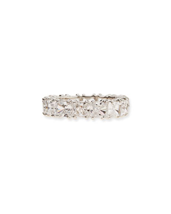 Princess-Cut Cubic Zirconia Band Ring