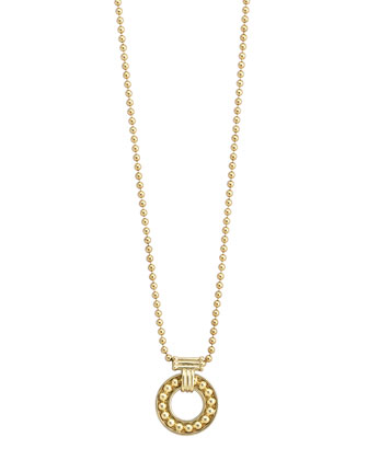 Enso 18k Gold 8mm Pendant Necklace
