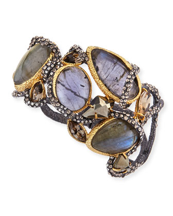 Vine Cuff with Labradorite & Pyrite