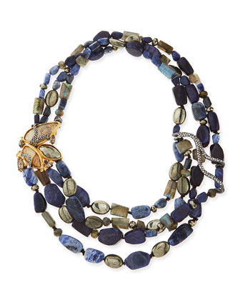 Tressage Multi-Stone Necklace