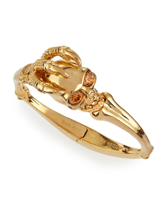 Golden Claw Skull Bracelet