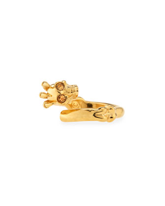 Golden Claw Skull Ring