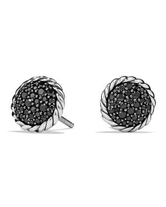 Chatelaine Pav?? Earring with Black Diamonds