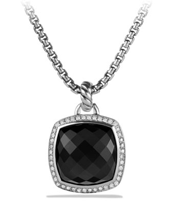 Albion Pendant with Onyx and Diamonds
