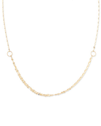 Mega Blush 14k Gold Necklace, 30