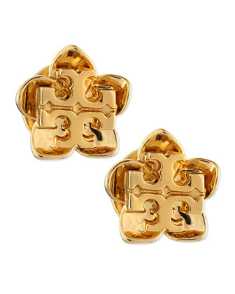 Cecily Golden Flower Stud Earrings