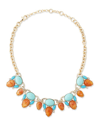 Clustered Crystal Statement Necklace