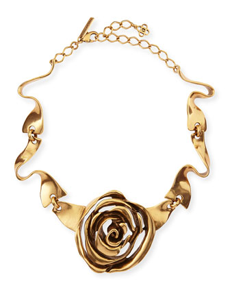 Golden Rose Necklace