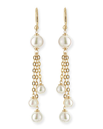 5/10mm Gold Vermeil Chain & Pearl Earrings