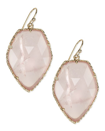 Corley Earrings, Rose Quartz