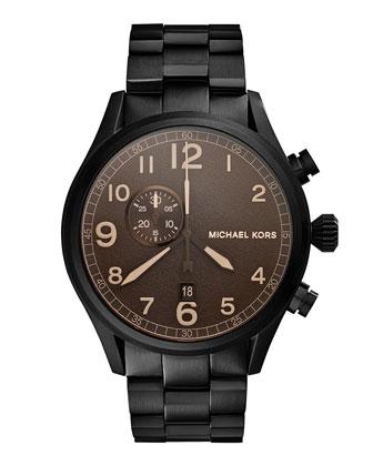 Hangar Three-Hand Watch, Black