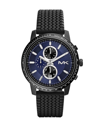 Oversize Black Silicone Granger Chronograph Watch