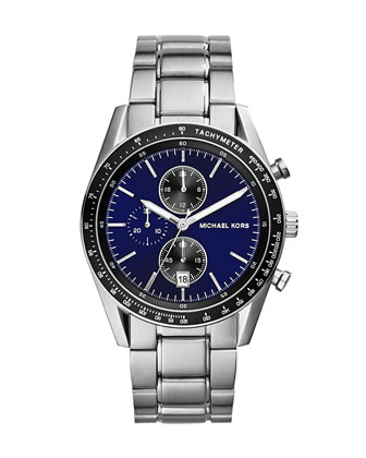 Mid-Size Silver Color Stainless Steel Accelerator Chronograph Watch