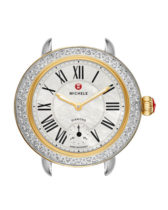 Serein 12mm Diamond Two-Tone Watch Head, White