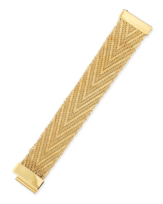 Golden Flat-Chain Bracelet