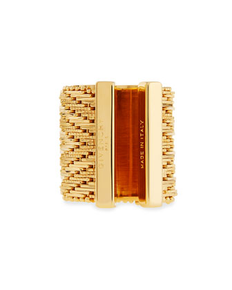 Wide Golden Flat-Chain Ring