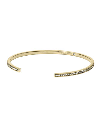 Pave Open Cuff, Golden