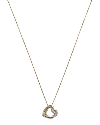 Tri-Tone Heart Necklace, Multi