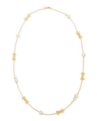 scattered faux pearl necklace
