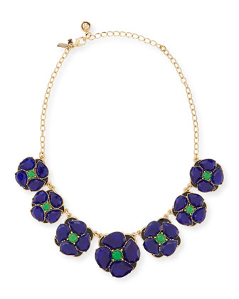 izu petals graduated necklace, blue