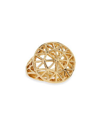 Golden Sunburst Dome Ring