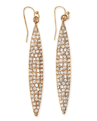 Pav?? Crystal Marquise Dangle Earrings