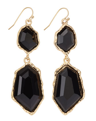 Double-Drop Faceted Crystal Earrings