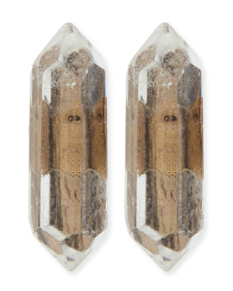 Golden Stalagmite Stud Earrings