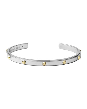Astor Open Cuff, Silver Color