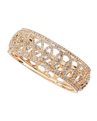 Golden Crystal Eye Bangle