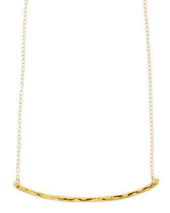 Taner Hammered Golden Bar Necklace