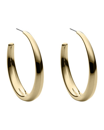 Hoop Earrings, Golden