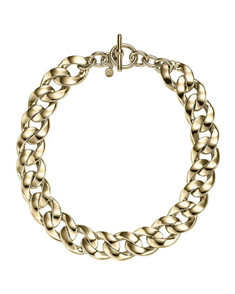 Curb-Chain Toggle Necklace, Golden