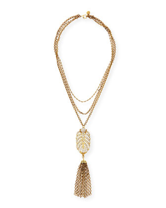 Drift Crystal Feather Necklace
