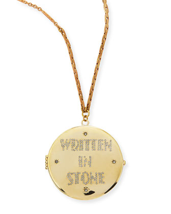 Written in Stone Golden Locket Necklace